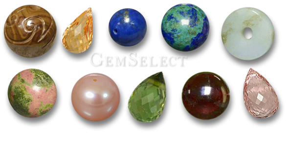 Colored Gemstone Beads from GemSelect