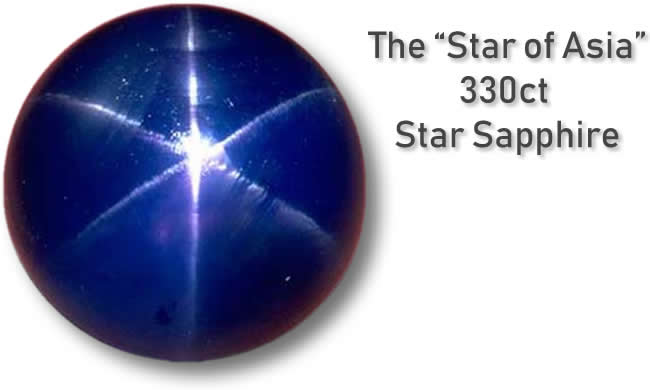 A Photo of The 'Star of Asia' Star Sapphire - Medium Image